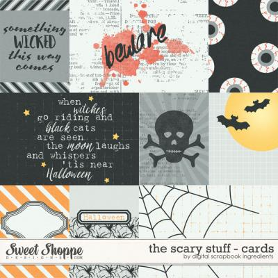 The Scary Stuff | Journal Cards by Digital Scrapbook Ingredients