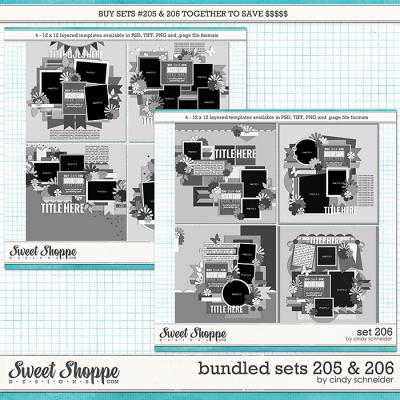 Cindy's Layered Templates - Bundled Sets #205-206 by Cindy Schneider