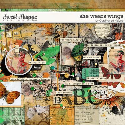 She wears wings by Captivated Visions