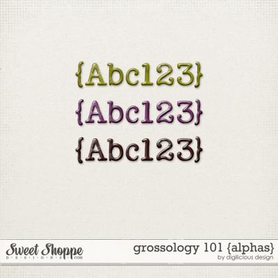 Grossology 101 {Alphas} by Digilicious Design