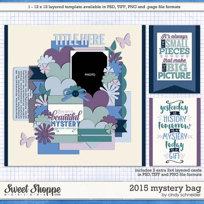 Cindy's Layered Templates - 2015 Mystery Bag by Cindy Schneider