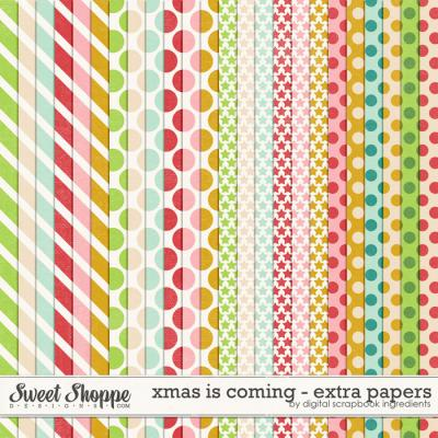 Xmas Is Coming | Extra Papers by Digital Scrapbook Ingredients