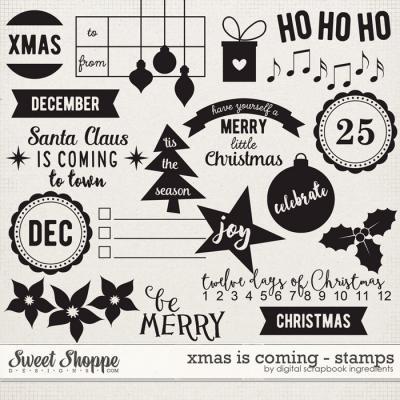 Xmas Is Coming | Stamps by Digital Scrapbook Ingredients