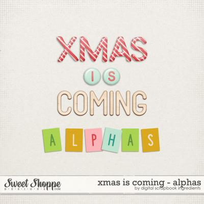 Xmas Is Coming | Alphas by Digital Scrapbook Ingredients