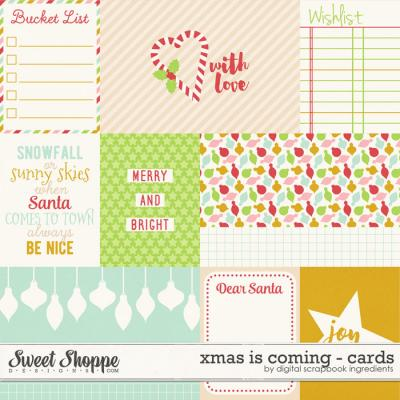 Xmas Is Coming | Journal Cards by Digital Scrapbook Ingredients