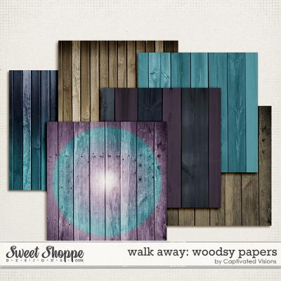 Walk Away: Woodsy Papers by Captivated Visions
