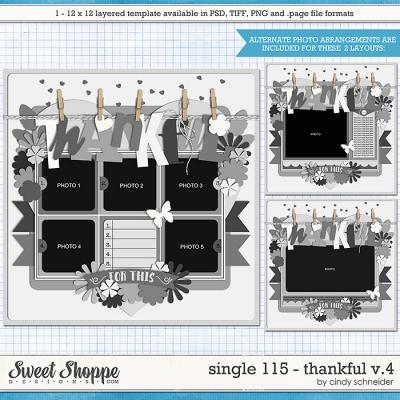 Cindy's Layered Templates - Single 115: Thankful V4 by Cindy Schneider