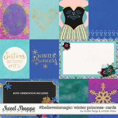#believeinmagic: Winter Princess Cards by Amber Shaw & Studio Flergs