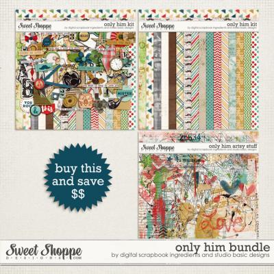 Only Him Bundle by Studio Basic Designs & Digital Scrapbook Ingredients