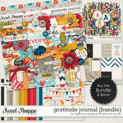 Gratitude Journal Bundle by Digilicious Designs & Tickled Pink Studio