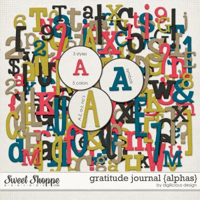 Gratitude Journal {Alphas} by Digilicious Design