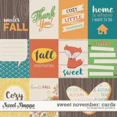 Sweet November: Cards by Blagovesta Gosheva