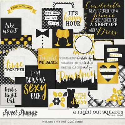 A Night Out Squares by Traci Reed