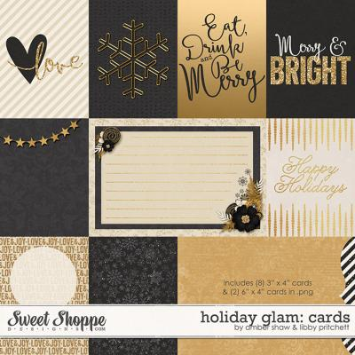 Holiday Glam Cards by Amber Shaw & Libby Pritchett