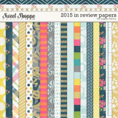 2015 in Review Papers by Sugary Fancy