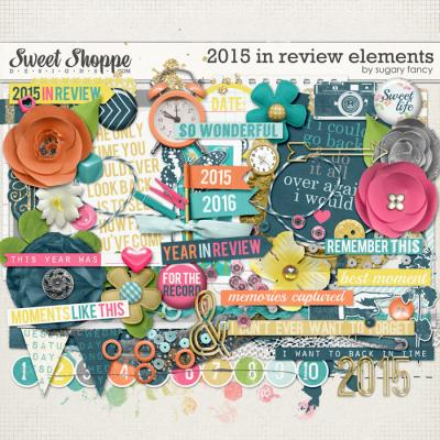 2015 in Review Elements by Sugary Fancy