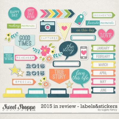 2015 in Review Labels & Stickers by Sugary Fancy
