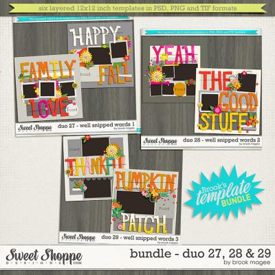 Brook's Templates - Bundle - Duo 27, 28 & 29 by Brook Magee
