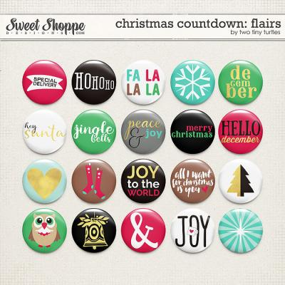Christmas Countdown: Flairs by Two Tiny Turtles