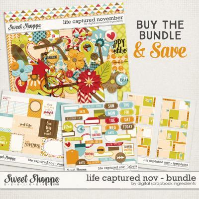 Life Captured November Bundle by Digital Scrapbook Ingredients
