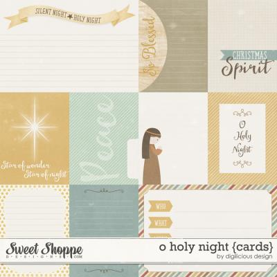 O Holy Night {Cards} by Digilicious Design