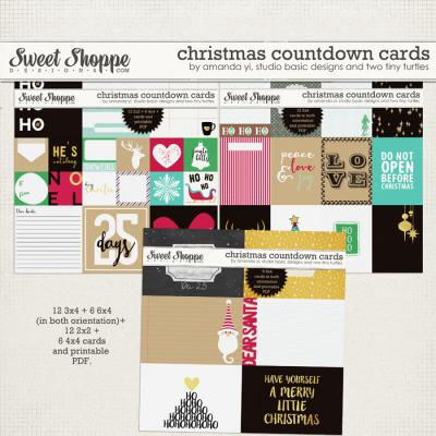 Christmas Countdown : Cards by Amanda Yi, Studio Basic Designs & Two Tiny Turtles