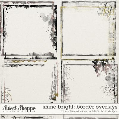 Shine Bright: Borders Overlays by Captivated Visions and Studio Basic Designs