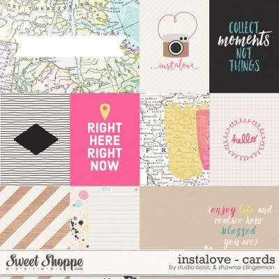 Instalove Cards by Shawna Clingerman and Studio Basic