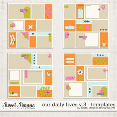Our Daily Lives Templates Vol.3 by Digital Scrapbook Ingredients