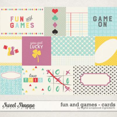 Fun And Games | Journal Cards by Digital Scrapbook Ingredients