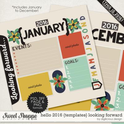 Hello 2016 {Templates} Looking Forward by Digilicious Design