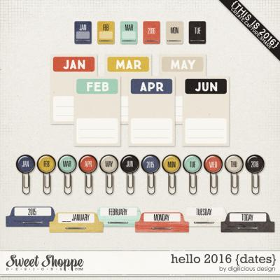 Hello 2016 {Dates} by Digilicious Design
