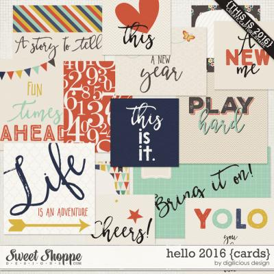 Hello 2016 {Cards} by Digilicious Design