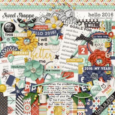 Hello 2016 {Kit} by Digilicious Design
