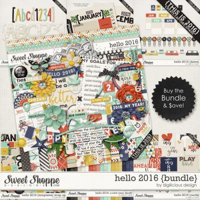 Hello 2016 {Bundle} by Digilicious Design