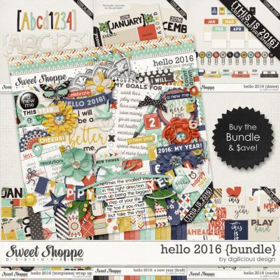 Hello 2016 {Bundle} by Digilicious Design