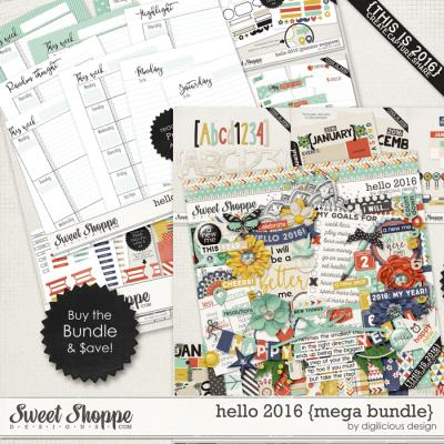 Hello 2016 {Mega Bundle} by Digilicious Design