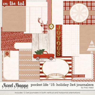 Pocket Life '15: Holiday 3x4 Journalers by Traci Reed