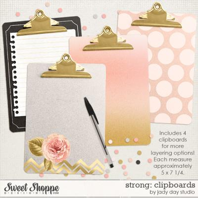 Strong: Clipboards by Jady Day Studio