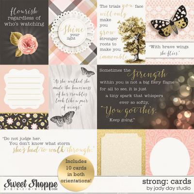 Strong: Journal Cards by Jady Day Studio