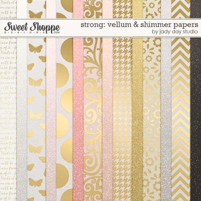 Strong: Vellum and Shimmer Papers by Jady Day Studio
