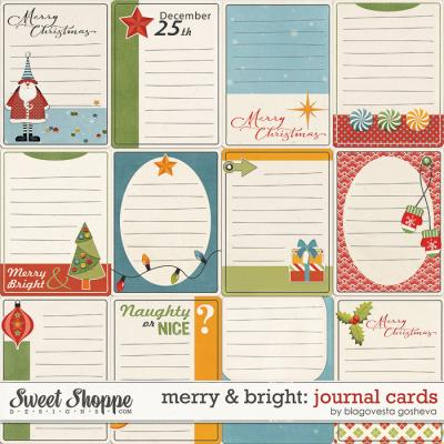 Merry & Bright: Journaling cards by Blagovesta Gosheva