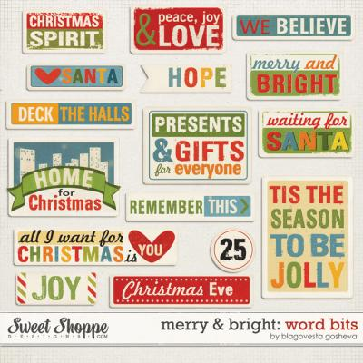 Merry & Bright: Word bits by Blagovesta Gosheva