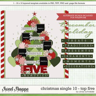 Cindy's Templates - Christmas Single 10: Top Five by Cindy Schneider