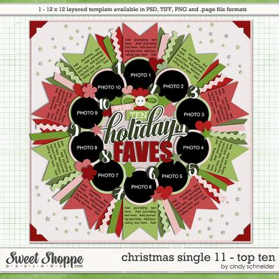 Cindy's Templates - Christmas Single 11: Top Ten by Cindy Schneider
