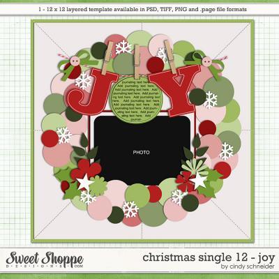 Cindy's Templates - Christmas Single 12: Joy by Cindy Schneider