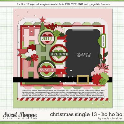 Cindy's Templates - Christmas Single 13: HOHOHO by Cindy Schneider