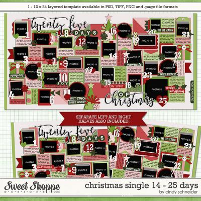 Cindy's Templates - Christmas Single 14: 25 Days by Cindy Schneider
