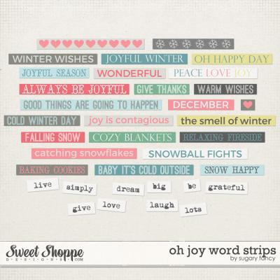 Oh Joy Word Strips by Sugary Fancy