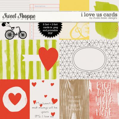 I Love Us Cards by Studio Basic